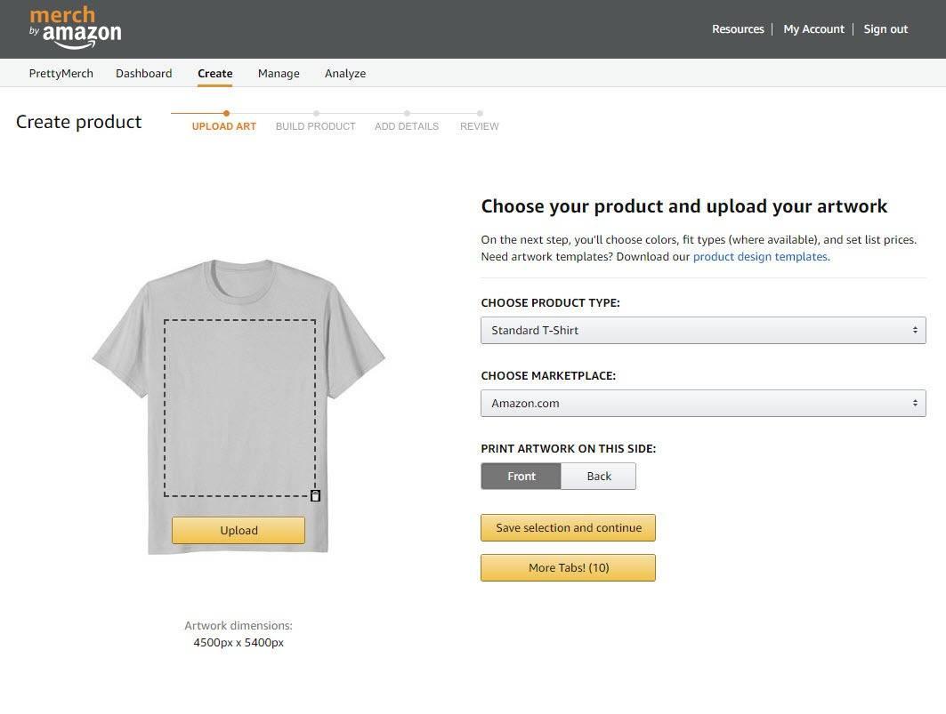 Geld verdienen T-Shirtbusiness - Das Merch by Amazon Programm