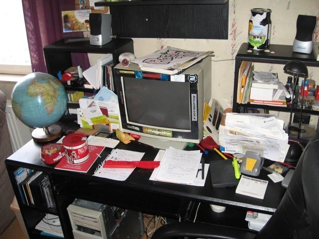 Daniels alter Schreibtisch