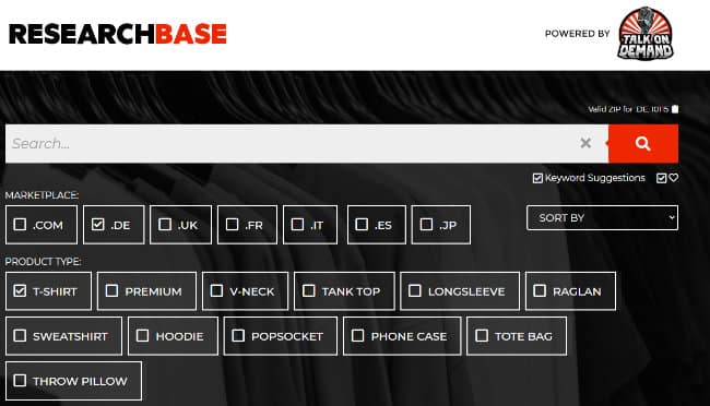 myresearchbase Suchemaschine POD